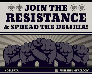 Join the Resistance Spread the Deliria Delirium Pandemonium Lauren Oliver