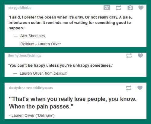 Delirium Quotes On Tumblr The Fandom